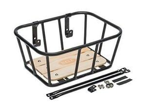 Bell Tote Series Bicycle Baskets Tote 900 - Black w Wood