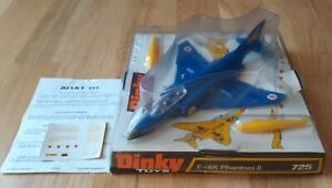 Dinky Airplane Phantom II #725 in VNM condition in Original Bubble Box