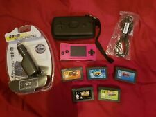 NINTENDO GAMEBOY MICRO WITH GAMES, NEW CHARGERS ECT GREAT BUNDLE READY TO PLAY.