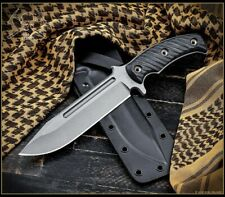 RMJ Tactical Combat Africa Knife Black G10 with Black Sheath Authorized Dealer