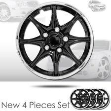 15 inch Black Hubcaps Wheel Covers Full Lug Skin Hub Cap Set 522 For Chevrolet