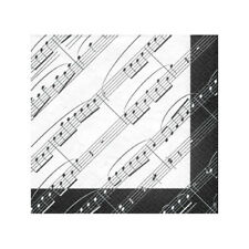 Music Note Party Napkins - Beverage Size - Lot of 5 Packs - 20 Napkins Per Pack