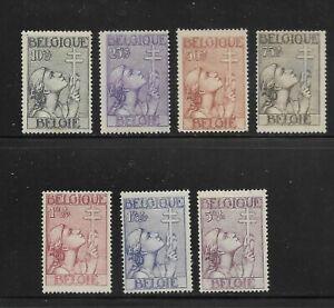 Belgium Scott #B144-#B150 mint hinged 1933 Semi Postal set for Tuberculosis work