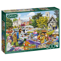 NEW! Falcon Village Church Car Boot Sale by Trevor Mitchell 500 piece jigsaw