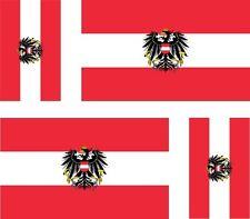4x Sticker Car Sticker Motorcycle Car Sticker Flag Flag Austria Royal