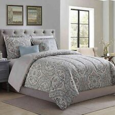 "4 Pc Ellison ""CAMDEN"" Comforter Set ~ Green Blue Gray ~ Twin 68 W x 88 L **NEW**"