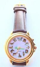 Brand New Vintage Horse Art Watch Leather Strap Japanese Quartz Movement Rare