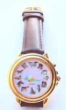 Brand New Vintage Horse Art Watch Leather Strap Japanese Quartz Movement Rare