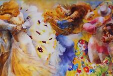 "LENA SOTSKOVA ""WITH GYPSIES"" GICLEE ON CANVAS Signed, Numbered ~ COA #110/195"