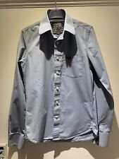 Men's Superdry Blue Long Sleeved Casual Shirt - Size Small