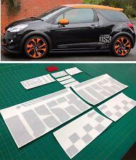 Citroen DS3 DS 3 Racing Alpha côté et Dash Sport Stickers Decals Graphics