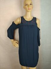 Knox Rose XS Tunic Top Cold Shoulder Cut Out Boho TUNIC Blouse XS