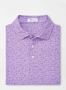 Peter Millar Golf Summer Comfort Haze Print Performance Polo Shirt (XL) Purple
