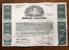 1987 BellSouth CORPORATION STOCK  CERTIFICATE 6 SHARES Woman Vignette