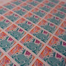FEUILLE SHEET TIMBRE SPORT TENNIS DE TABLE PING PONG N°1961 x50 1977 NEUF ** MNH