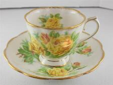 c1941 VTG Royal Albert Yellow Tea Rose England Cup Saucer Set Bone China