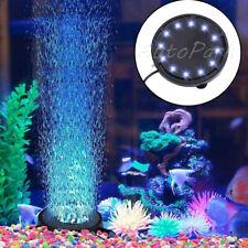 More details for 12 led submersible bubble rgb light air stone lamp for aquarium fish tank pump a