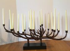 Antler Candelabra Candle Holder with Taper Candles Rustic Cabin Lodge Decor
