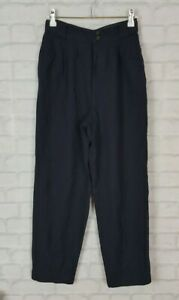 VINTAGE RETRO 90s 80s BRIGHT HIGH WAISTED 100% WOOL TROUSERS PANTS BOLD FESTIVAL