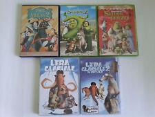 DVD cartoni animati. Disney, Mulan, Dreamworks, Shrek, L'Era Glaciale