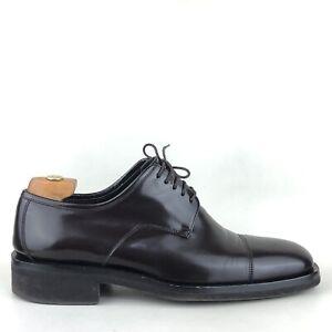 GUCCI Men's Brown Leather Cap Toe Lace-up Oxford Shoes UK 7 | EUR 41 | US 8