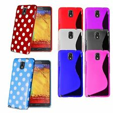 For Samsung Galaxy Note 3 Polka Dots Silicone Gel Skin Case Cover + Screen