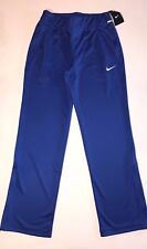 $60 Nike Womens Size Medium Dri Fit Athletic Training Sweat Pants Blue White