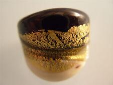 Ring aus original Muranoglas Schmuck Murano Glas UNIKAT Handarbeit bunt Größe 18