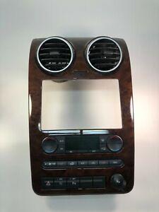 2005-2007 Ford Freestar Woodgrain Dash Radio HVAC Control Trim w/ AC Control OEM