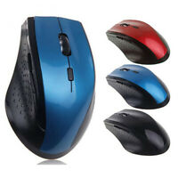 PC Computer Laptop Ergonomic 6 Keys Optical 2.4GHz Wireless Gaming Mouse Eager