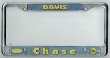 RARE Davis California Chase Ford FoMoCo Nissan JDM Vintage License Plate Frame