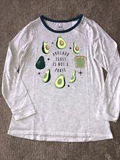 """Justice Top """"Avocado Toast Is Not A Phase"""" Message Super Cute Size 14 NWT"""