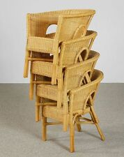 Rattan Chair NEW Honey Chair Wicker Chairs Stackable Four Set