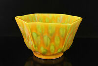 China Collectible Jingdezhen Porcelain Nature Fired Colour Glaze Hexagon Bowl
