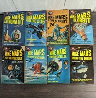 Lot of 8 Donald A. Wollheim MIKE MARS ASTRONAUT #1-8 Paperback Library Firsts