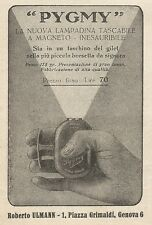 Z2298 PYGMY la nuova lampadina tascabile - Pubblicità 1928 - Vintage advertising