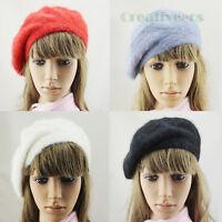 Fashion Stylish Women Winter Warm Rabbit Fur Snow Beanie Hat Cap Beret Angora