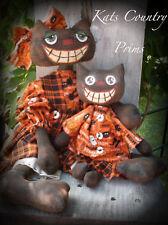 Primitive Raggedy Folk Art~PATTERN~#133 Mystik & Majik