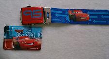 cinture per bambini Disney/Pixar Cars Blu Poliestere elastico fibbia metallo
