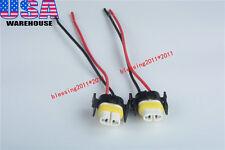 2PCS H11 880 H8 Female Ceramic Plugs Wire Connectors Sockets Pigtails High-Temp