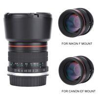 85mm f/1.8-f/22 MF Full Frame Medium Telephoto Lens for Canon /Nikon DSLR Camera