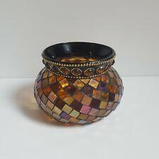 Partylite Global Fusion Mosaic Votive Tealight Candle Holder Multicolor P8367