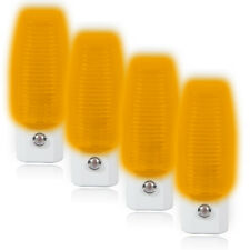 Maxxima Amber LED Night Light Plug In With Dusk To Dawn Sensor (Pack of 4)