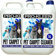 PROFESSIONAL CARPET CLEANING SOLUTION SHAMPOO PET ODOUR REMOVER CLEANER 2 X 5L