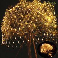3x2m 200 LED Lichternetz Lichtervorhang Weihnachten Lichterkette Warmweiß Dekor