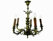 Stunning Chandelier 5 Lights Arms Putti  Hollywood Regency era Maison Jansen