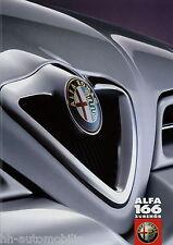 Prospekt Alfa Romeo 166 Zubehör 10 98 1998 Autoprospekt brochure accessoires PKW