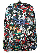 NEW Authentic Loungefly Cuphead & Mugman Cartoon Characters School Backpack
