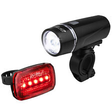 BV Bike Front & Rear LED Light Set Cycling Head & Tail Flashlight NEW L-801-Plus