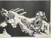 Serigraph by Cesar Leal Jimenez, ca 1972. Untitled. Original signed